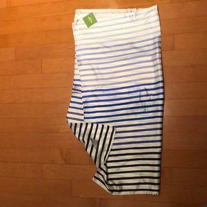 NWT Kate spade silk square striped shark scarf